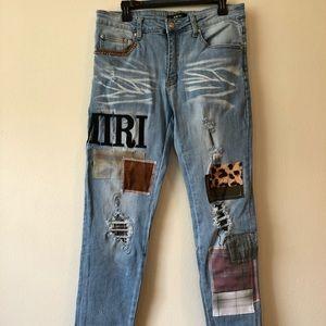 Amiri Jeans Patch Work Brand New-32